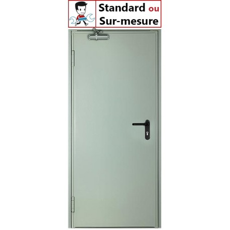 Porte metallique sur mesure 1 Vantail
