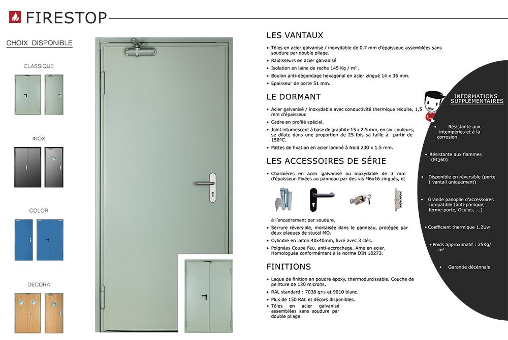 Porte Coupe Feu Portemetalcom - Porte coupe feu 2h